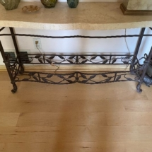 Stone top console table