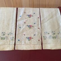 Vintage tea linens