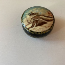 Russian lacquered signed trinket box
