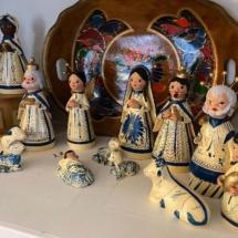 Vintage ceramic nativity from Mexico