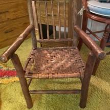Antique children's twig chair