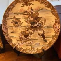 Samurai decorative plate
