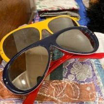 Vintage Japan mirrored sun/ski glasses
