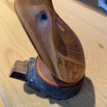 Conklin carved frog