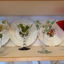 Fabulous martini glasses