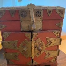 Korean lacquered antique safe