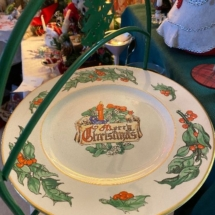 Vintage Christmas plate by Walter Duff - England