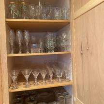 Lots of entertaining glassware