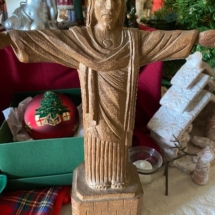 Carved Jesus statue by Antonio Zeppellini