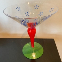 Orrefors Sweden Martini glass - new with tag