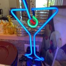 Neon martini sign