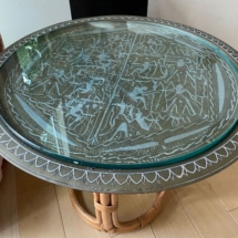 Egyptian brass tray occasional table