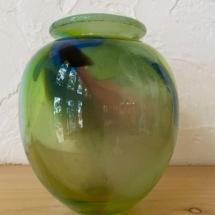 Meredith Wendell glass vase signed