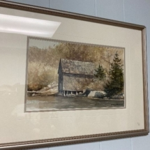 Old Boat House watercolor by Cluny Maher