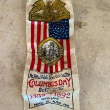 1892 Columbus Day school ribbon