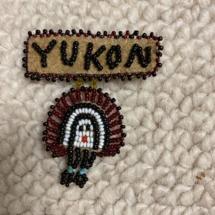 Vintage Native American bead brooch