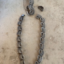 Beautiful heavy Mexican silver set