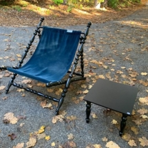 Italian chair and side table - new