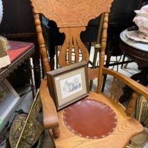 Antique pressed oak chair