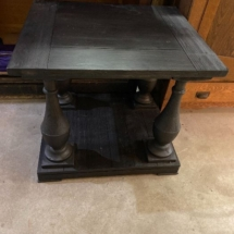 Charcoal gray contemporary end table